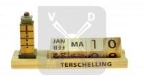 Kalender hout Terschelling