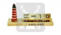 Kalender hout Ameland