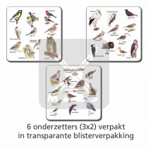 Set 6 Onderzetters Weidevogels