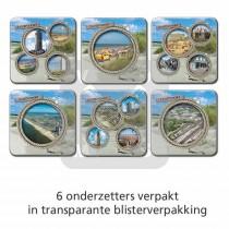 Set 6 Onderzetters Zandvoort