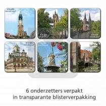 Set 6 Onderzetters Delft
