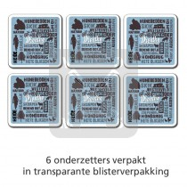 Onderzetter set 6 st. Drenthe