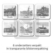 Set 6 onderzetters Haarlem