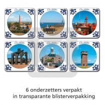Set 6 onderzetters Den Helder