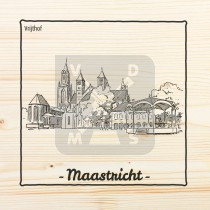 Onderzetter enkel hout laser Maastricht