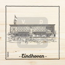 Onderzetter enkel hout laser Eindhoven