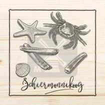 Onderzetter hout laser Schiermonnikoog