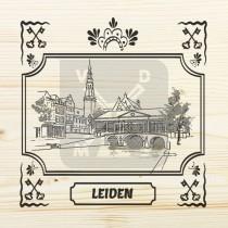 Onderzetter enkel hout laser Leiden