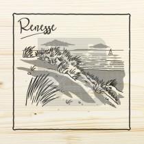 Onderzetter enkel hout laser Renesse
