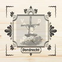 Onderzetter enkel hout laser Dordrecht