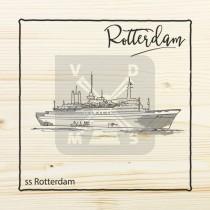 Onderzetter enkel hout laser Rotterdam