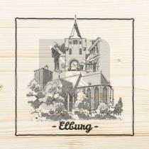 Onderzetter enkel hout laser Elburg