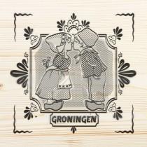 Onderzetter enkel hout laser Groningen