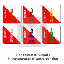 Set 6 onderzetters Utrecht