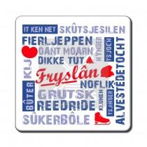 Set 6 onderzetters Fryslan