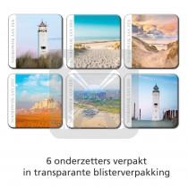 Set 6 Onderzetters Noordwijk