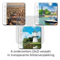Set 6 onderzetters Middelburg