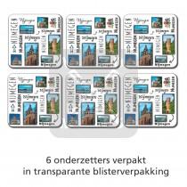 Set 6 Onderzetters Nijmegen