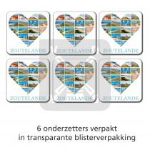 Set 6 onderzetters Zoutelande