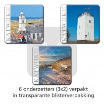 Set 6 onderzetters Katwijk aan Zee
