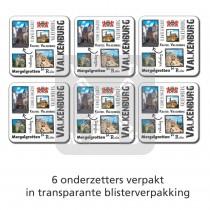 Set 6 onderzetters Valkenburg