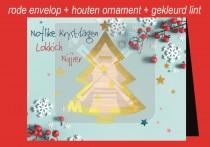 Kerstkaart env + Kerstboom NK&LN FR