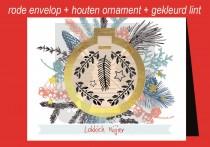 Kerstkaart env + Kerstbal LN FR