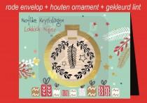 Kerstkaart env + Kerstbal NK&LN FR