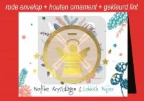 Kerstkaart env + Engel NK&LN FR