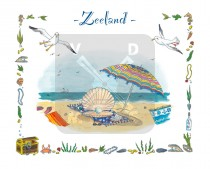 Ansichtkaart Jiska de Waard Zeeland