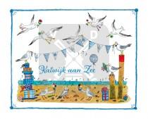 Ansichtkaart Jiska de Waard Katwijk aan Zee