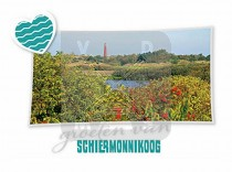 Reliefkaart Schiermonnikoog