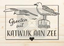 Ansichtkaart hout Katwijk aan Zee