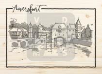 Ansichtkaart hout Amersfoort
