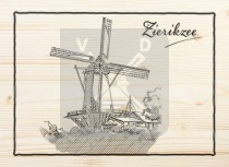 Ansichtkaart hout Zierikzee