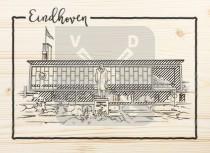 Ansichtkaart hout Eindhoven