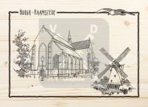 Ansichtkaart hout Burgh Haamstede
