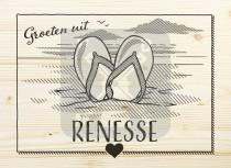 Ansichtkaart hout Renesse