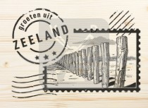 Ansichtkaart hout Zeeland  CM