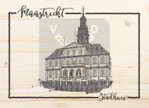 Ansichtkaart hout Maastricht