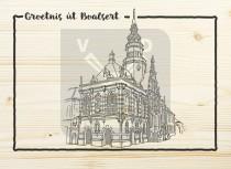Ansichtkaart hout Bolsward