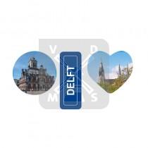 Sleutelh. 3 bedels Delft
