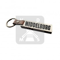 Sleutelh. hout leren band Middelburg