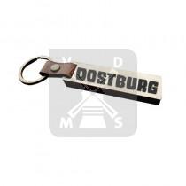 Sleutelh. hout leren band Oostburg