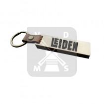 Sleutelh. hout leren band Leiden