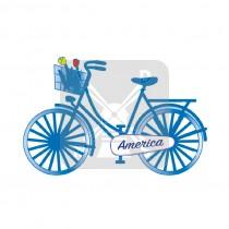 Sleutelhanger fiets America