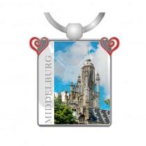Sleutelhanger hartjes/foto Middelburg