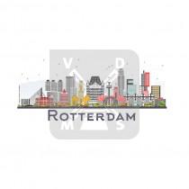 Bord alum. Rotterdam