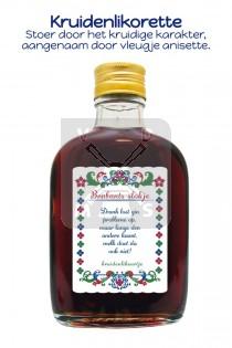 Drankflesje boerenbont Brabant kruiden