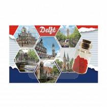 Magneet flesje hartjes Delft